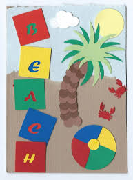 beach themed punch art cards buggalcrafts