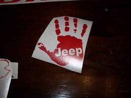 jeep wave sticker mirror jeep wave decal vinyl decal sticker choose color and body code