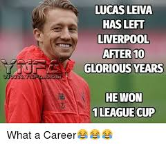 Lucas Meme - lucas leiva has left liverpool after 10 glorious years he won 1