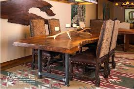Rustic Dining Room Tables For Sale Custom Dining Room Furniture Walnut Crotch Wood Slab Custom