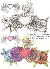 amazing sacred heart tattoo designs by isabella