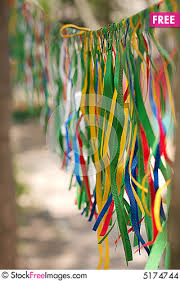 outdoor decoration colourful ribbons free stock images photos
