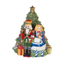 White House Christmas Ornament - fitz and floyd first ladies nutcracker cookie jar kennedy white
