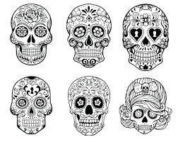 zoom sugar skull pumpkin stencil free owl pattern outline template