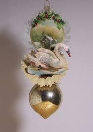 Antique Victorian Christmas Ornaments - victorian christmas ornament madonna with child made from