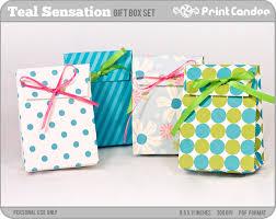 Diy Favor Box Template Printable by Items Similar To Teal Sensation Printable Favor Boxes