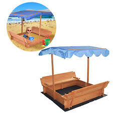 Badger Basket Covered Convertible Cedar Sandbox With Two Bench Seats Wood Sandbox Ebay