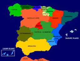 map of spain all about spain the regions