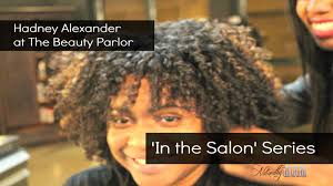 flexi rod set on natural hair in the salon series youtube