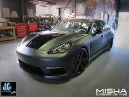 porsche cayenne matte grey misha designs u2013 panamera body kit to be unveiled at sema show