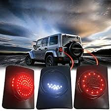 Led Lights For Jeeps Amazon Com Autou Spare Tire Light Led Third Brake Lights For Jeep