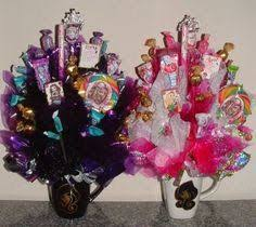 ever after high or monster high candy bouquet centerpiece created