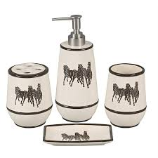 Horse Decorations For Home by Running Horses Bath Set 4 Pcs Horse Bathroom Accessories For Home