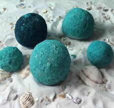 sea breeze bath bombs made with lavender spearmint and lime