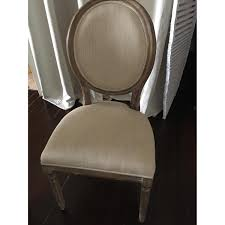 Restoration Hardware Madeline Chair by Restoration Hardware Vintage French Round Fabric Side Aptdeco
