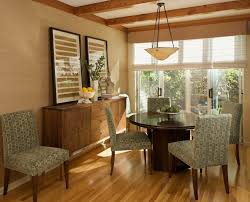 buffet decor dining room transitional with area rug upholstered