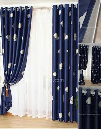 Blue And Beige Curtains Soundproof Navy Blue Blackout Bedroom Curtain On Sale