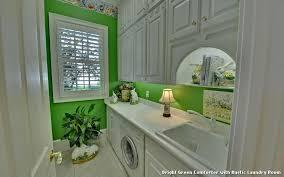 Bright Green Comforter Laundry Room Barn Idea