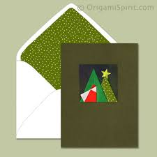 two fold santa christmas card