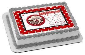 sock monkey theme red edible cake or cupcake topper u2013 edible