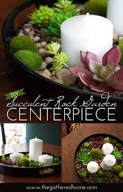 Succulent Rock Garden Diy Succulent Rock Garden Centerpiece The Gathered Home