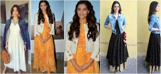 how to mix and match indian for indo western styles