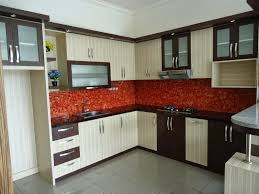 red tile backsplash kitchen kitchen style small apartment ideas interior modern cabinet set