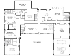 large single story house plans u shaped house plans one story l lrg cdff tikspor