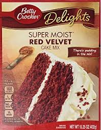 amazon com betty crocker super moist cake mix red velvet 15 25