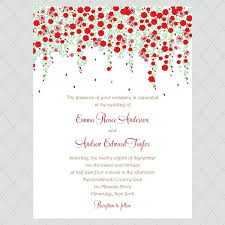 flower wedding invitations style 659 whimsicalprints