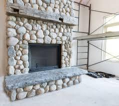 flagstone fireplace binhminh decoration