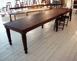 dining room tables 10 seats trestle salvaged wood extension