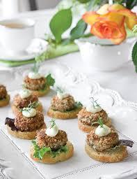 mini canape mini salmon croquette canapés teatime magazine