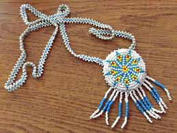 beaded medallion necklace images Beaded necklace repair cleaning crafty alaskan jpg