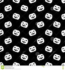 halloween background tile cute black white cartoon ghost seamless pattern background