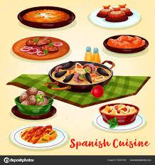 de cuisine espagnole conception d affiche cuisine espagnole dîner menu dessin animé