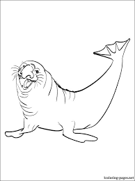 seal coloring page coloring picture elephant seal coloring pages