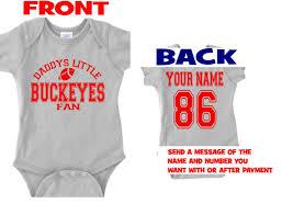 customized baby items rgrey daddys buckeyes baby jersey customized personalized