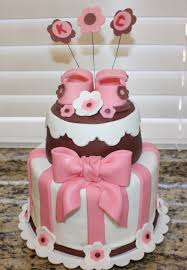 pink and brown baby shower baby shower ideas in pink pink and brown baby shower cake