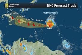 caribbean weather map warnings as danny nears caribbean islands the