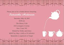 bridal shower invitations wording cheap print pink bridal shower tea party invitations ewbs036 as