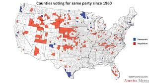 2016 Electoral Map Pre by How The Red And Blue Map Evolved Over The Past Century America