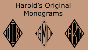 initial fonts for monogram monograms harold s fonts