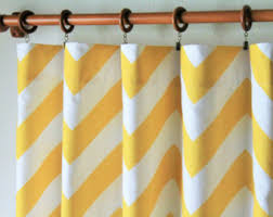 Yellow White Chevron Curtains Pair Of 50 Wide Baby Blue And White Chevron Curtain
