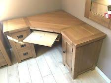 Oak Corner Computer Desks Oak Corner Desk Ebay