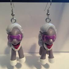 my pony earrings my pony earrings hoity toity repurposed toys by erinetc