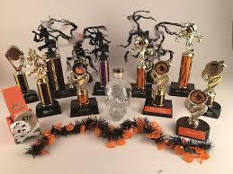 halloween trophies custom made awards blue ribbon trophy