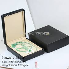 luxury necklace box images Black pu statement necklace box or jewelry luxury sets box the jpg