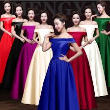 royal blue purple red lime green off shoulder bridesmaid dress