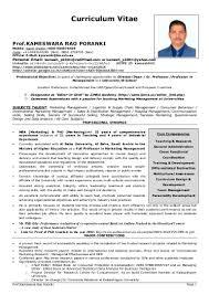 Curriculum Vitae Samples India Pdf by Curriculum Vitae Professor Pdf Youtuf Com